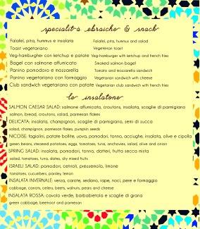 Jewish specialties and salads